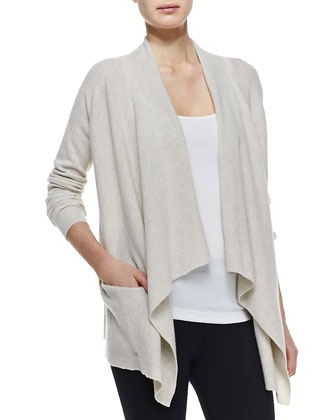Cashmere Draped Open Cardigan