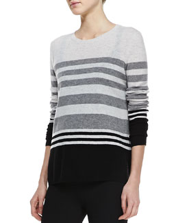 Vince Colorblock Striped Cashmere Sweater