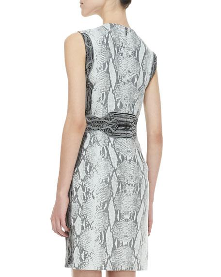 Bey Python-Print Dress