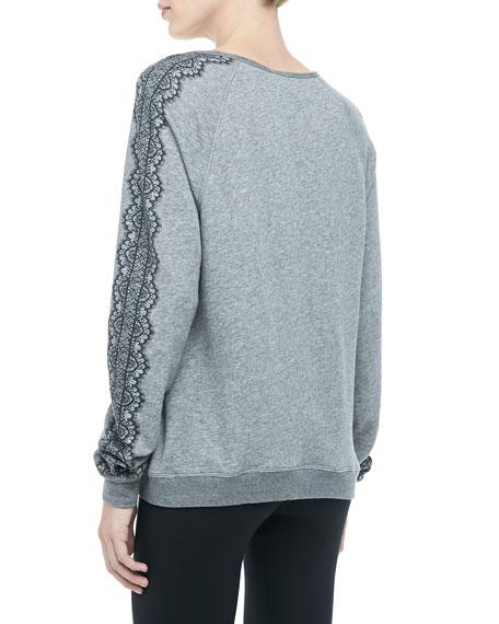 Annora Lace-Print Sweatshirt