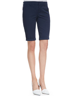 Vince Side-Buckle Bermuda Shorts, Coastal