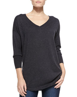 Joie Chyanne Colorblock Raglan-Sleeve Sweater