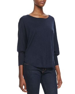 Joie Christelle Dolman Sleeve Sweater, Heather Midnight