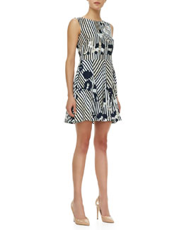 Diane von Furstenberg Kimana Printed Flare-Skirt Dress