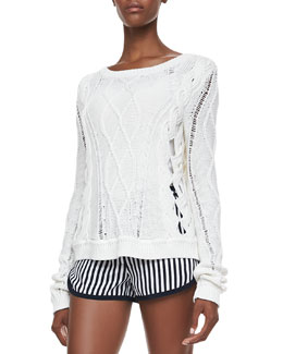 Diane von Furstenberg Knit Long-Sleeve Sweater