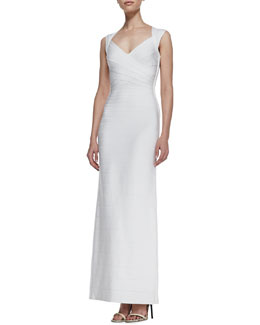 Herve Leger Sweetheart-Neck Bandage Long Gown