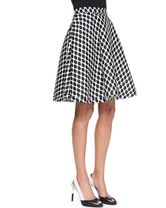 Amelia Mikado Diamond-Print Skirt