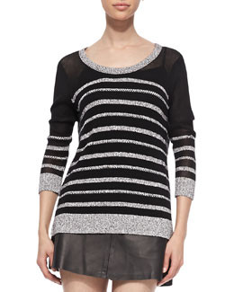 Rag & Bone Azra Striped Knit Pullover