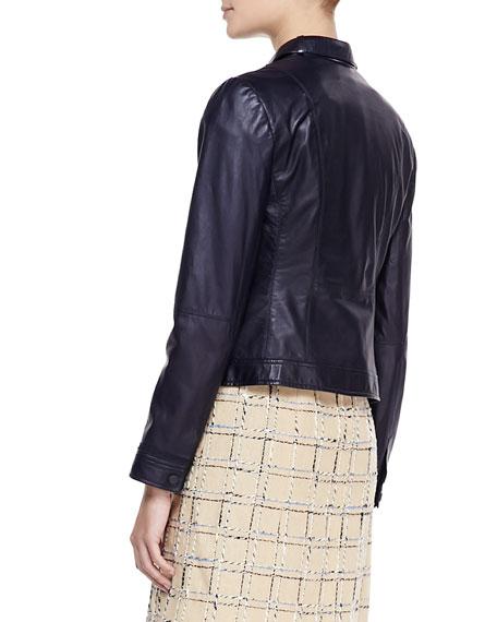 Sandra Leather Snap Jacket