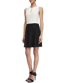 MARC by Marc Jacobs Stretch- Suiting Colorblock Dress