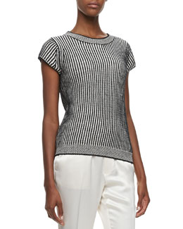 MARC by Marc Jacobs Travis Striped Knit Sweater
