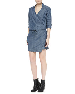 rag & bone/JEAN Chambray Relaxed Wrap Dress
