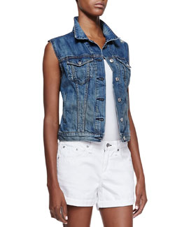 rag & bone/JEAN Burney Denim Sleeveless Vest