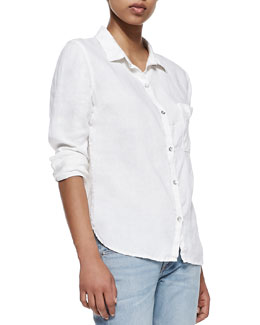rag & bone/JEAN Perfect Linen-Cotton Shirt
