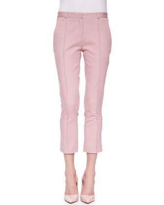 Seamed Cropped Chino Pants