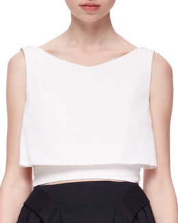 McQ Alexander McQueen Tiered Cropped Party Top