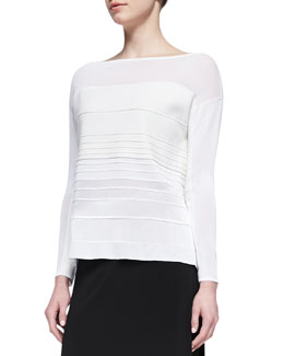 Helmut Lang Linear Degrade Pullover Top