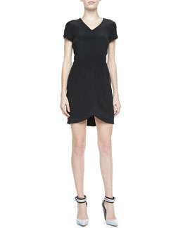 Theory Teagan Cap-Sleeve Dress