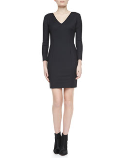Theory Nortina W Bracelet-Sleeve Dress