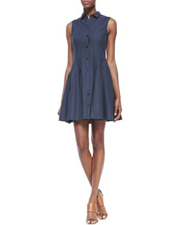Theory Genaida Strapless Twill Dress