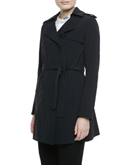 Theory Kota Trench Jacket. Black
