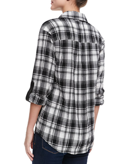 Piper Plaid Chiffon Blouse