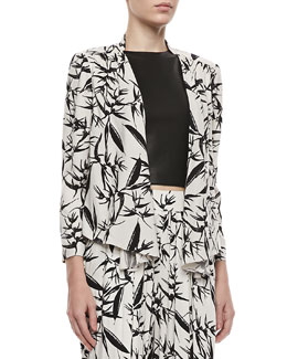 Alice + Olivia Vanna Printed Open Jacket