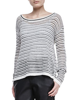 Alice + Olivia Ethan Striped Knit Sweater