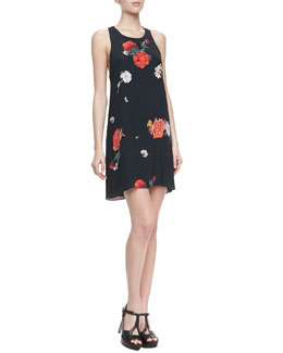 Alice + Olivia Liz Castaway Floral-Print Tunic Dress