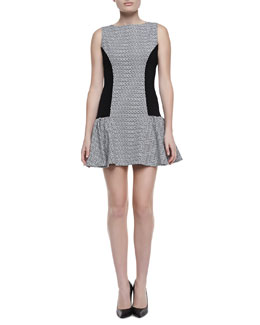 Alice + Olivia Bettina Drop-Waist Dress