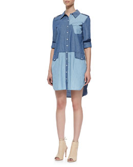 MARC by Marc Jacobs Catalina Bicolor Denim Shirtdress