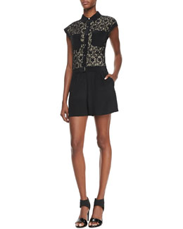 MARC by Marc Jacobs Leila Lace-Top Jumpsuit