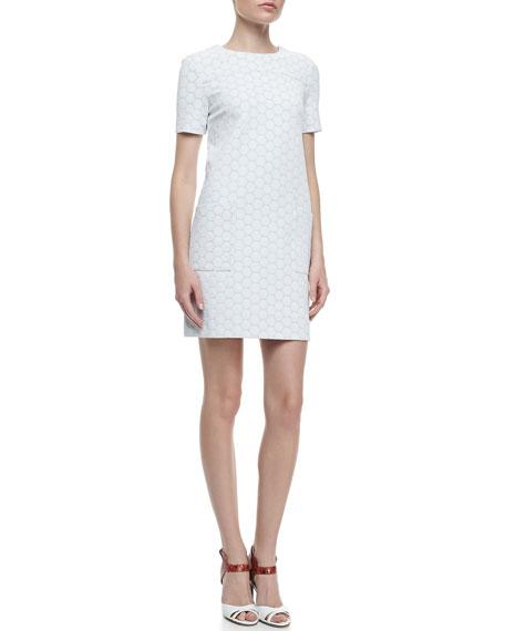 Leyna Dotte Ponte Dress, White
