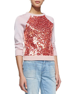 MARC by Marc Jacobs Gretta Sequin-Front Sweater