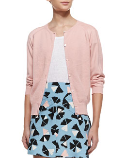 MARC by Marc Jacobs Sybil 3/4-Sleeve Cardigan Sweater