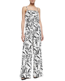 Alice + Olivia Nona Printed Wide-Leg Jumpsuit