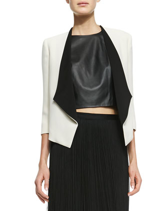 Oliver Two-Tone Open Blazer