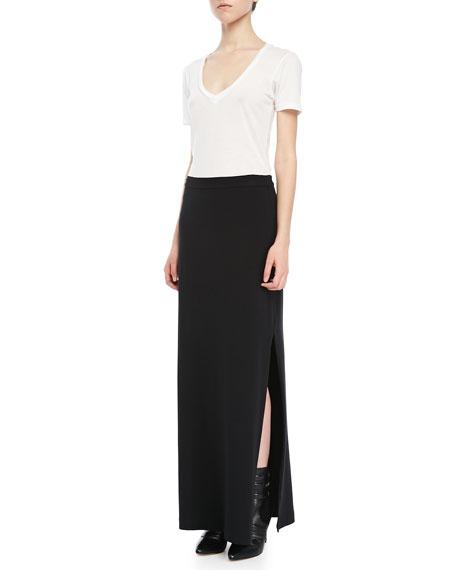 Side-Slit Maxi Skirt