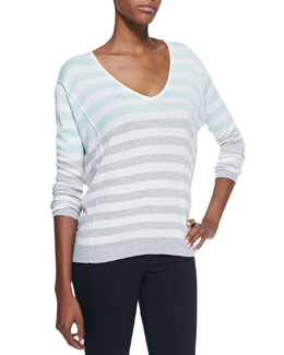 Splendid Isla Vista Striped V-Neck Sweater