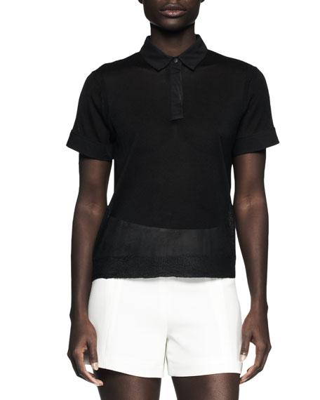 Ellie Semisheer Polo Shirt