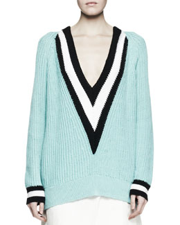 Rag & Bone Talia Chunky Knit V-Neck Sweater