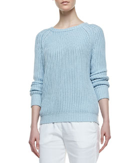 Theory Brombly Ribbed Knit Sweater