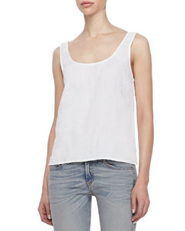 rag & bone/JEAN Simple Sleeveless Linen Tank