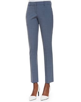 Theory Louise Cropped Skinny Dress Pants
