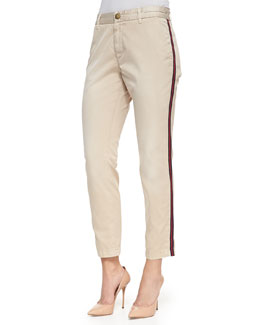 Current/Elliott The Buddy Side-Stripe Trousers