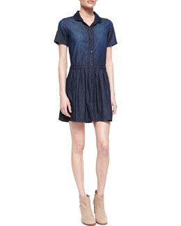 Current/Elliott The School Girl Chambray Shirtdress