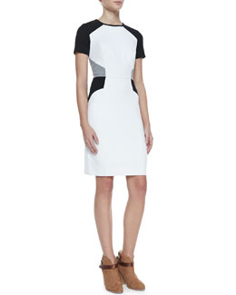Milly Slim Colorblock Ponte Dress