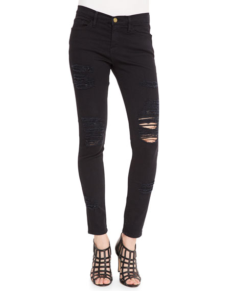 5e619259faf4 FRAME Le Color Rip Skinny Jeans