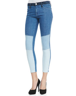 Frame Denim Le Skinny Colorblock Denim Jeans, Hayden