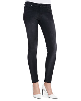 RtA Denim Basic Skinny Jeans, Faded Black